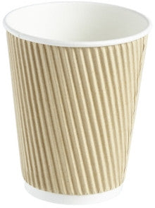 12oz Kraft Ripple Hot Drink Cups (1x500)