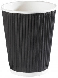 12oz Black Ripple Wall Paper Cups (1x500)