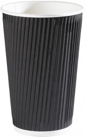 16oz Black Ripple Wall Paper Cups (1x500)