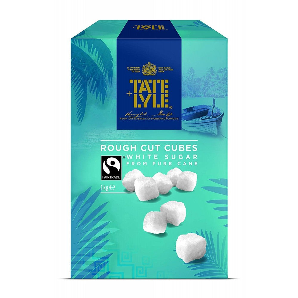 Tate & Lyle Rough Cut Fairtrade White Sugar Cubes (8x1kg)