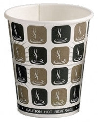 8oz Mocha Print Single Wall Hot Drink Disposable Cups (1000)