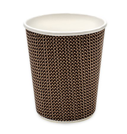 8oz Premium Double Wall Grid Desgin Disposable Cups (1x500)