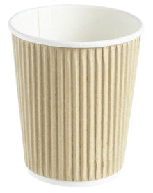 8oz Kraft Ripple Hot Drink Cups (1x500)