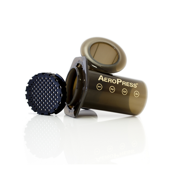 Gift Pack Aerobie Aeropress Plunger Coffee Brewer including Mexican and Cuban ground coffee