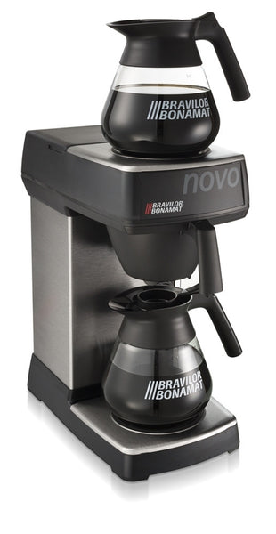 Novo Filter Coffee Brewer from Bravilor Bonamat with two 3 pint jugs