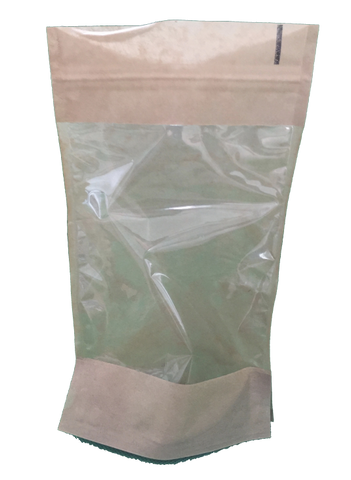 Kraft Zip Lock Coffee Pouch holds approx 200g (Pack of 20)