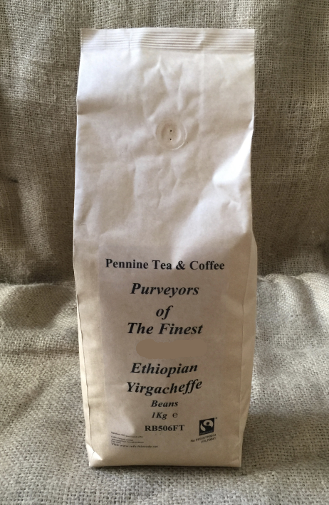 Fairtrade Ethiopian Yirgacheffe Roasted Coffee (1kg)