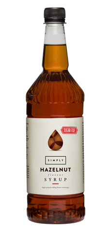 Simply Hazelnut Sugar Free Flavoured Syrup (1litre)