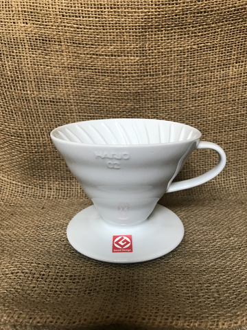 Hario Coffee Dripper V60 size 02 Ceramic White