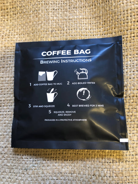 House Blend Coffee Bag - Ground Coffee in a bag to brew in the cup (100x7.5g)