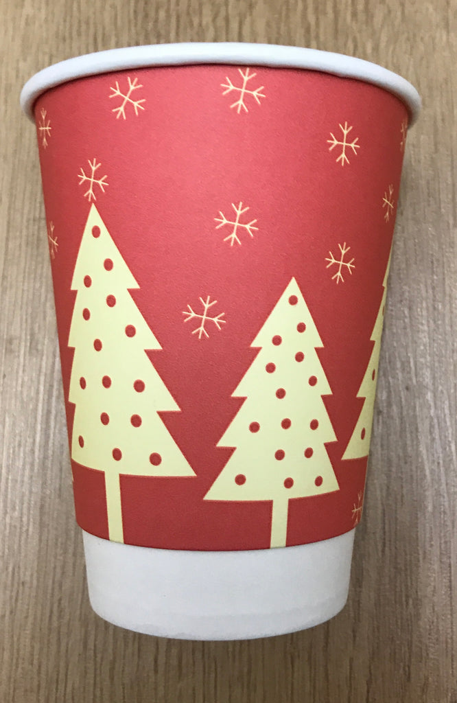 12oz Festive Print Hot Drink Paper Cups (V2018) (1x500)