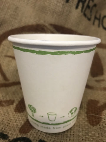 10oz White Hot Drink Single Wall Disposable Paper Cups Biodegradable and Compostable (1000)