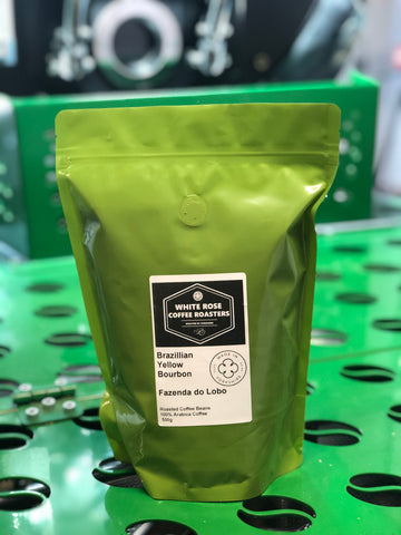 Brazil Yellow Bourbon Natural Arabica Fazenda Do Lobo Roasted Coffee