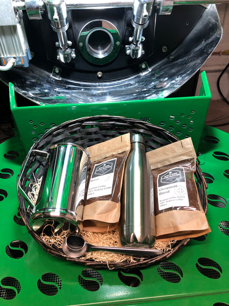 Christmas Hamper - Cafetiere for two and Flask gift set