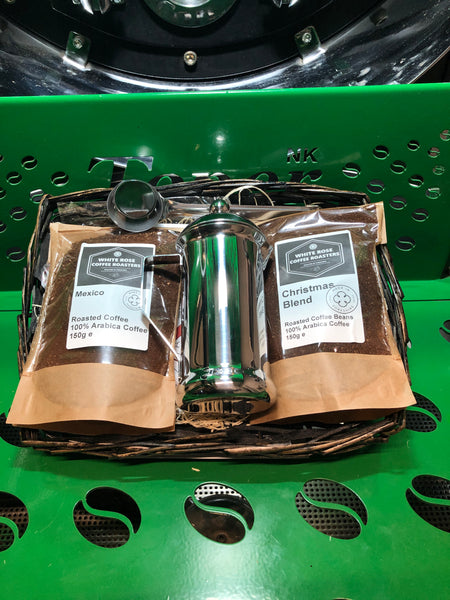 Christmas Hamper - Cafetiere for one and Flask gift set