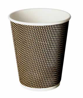 12oz VIP Double Wall Grid Design Disposable Cups (1x500)