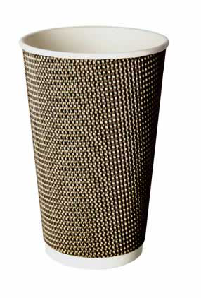 16oz VIP Double Wall Grid Design Disposable Cups (1x500)