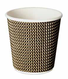 4oz VIP Single Wall Grid Design Disposable Cups (1x1000)