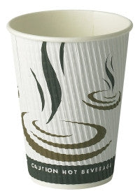 Weave ribbed 12oz Take Out Disposable Cups (500)