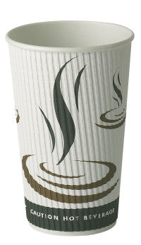 Weave ribbed 16oz Take Out Disposable Cups (500)