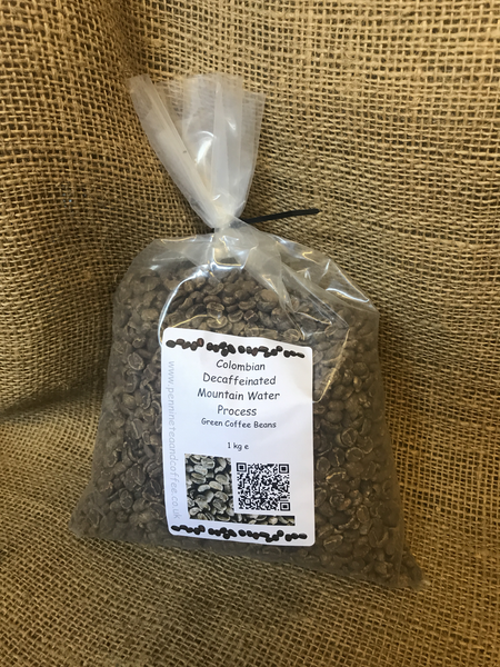 Colombian Decaffeinated Mountain Water Process Green Coffee Beans (1kg)