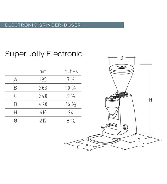 Mazzer Super Jolly Electronic On Demand Espresso Grinder