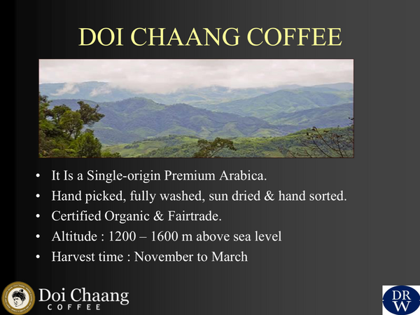 Thailand Grade A Doi Chanang Washed Arabica Green Coffee Beans (1kg)