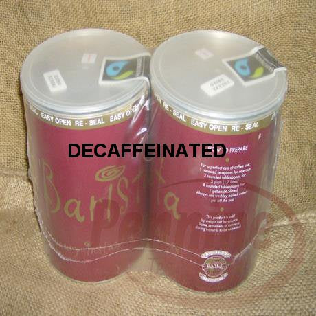 Fairtrade Decaffeinated Instant Coffee Tins (2x750g)