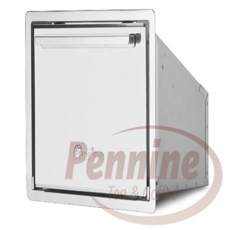 Tilting Top Stainless Steel Under Counter Knock Out Bin (Open Back)