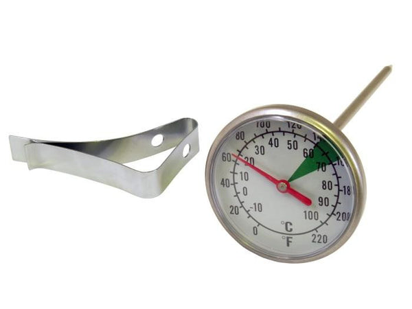 Motta 5 Inch Milk Foaming Thermometer with Clip