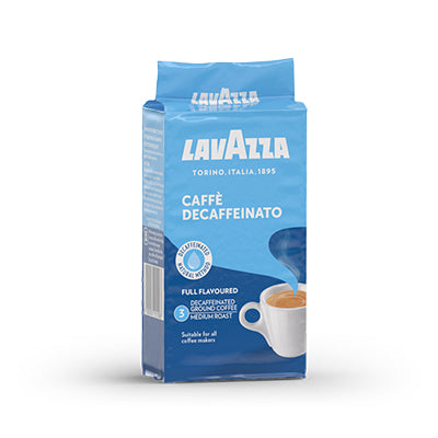 Lavazza Dek Vac Pak Ground Coffee (8x250g)