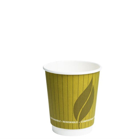 Biodegradable and Compostable 8oz Double Wall Hot Drink Take out cups (500)
