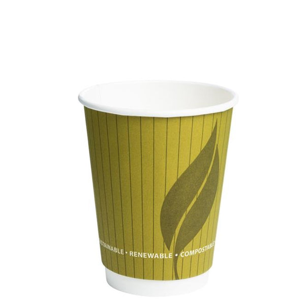 Biodegradeable and Compostable 12oz Double Wall Hot Drink Take out cups (500)