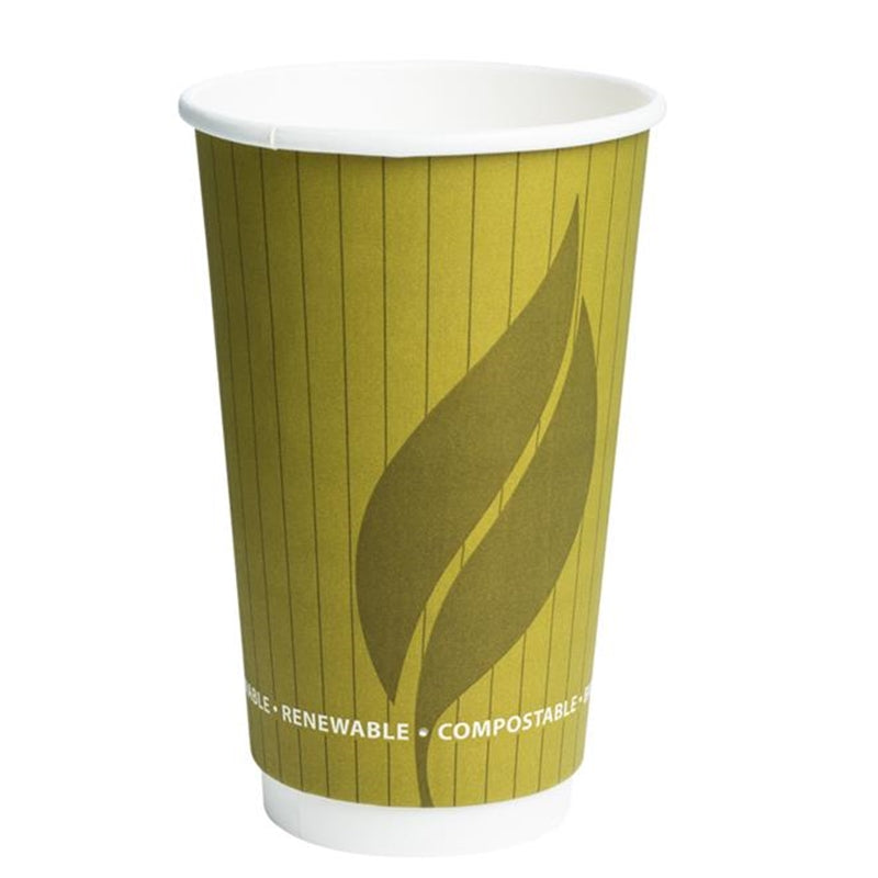 Biodegradable and Compostable 16oz Double Wall Hot Drink Take out cups (500)