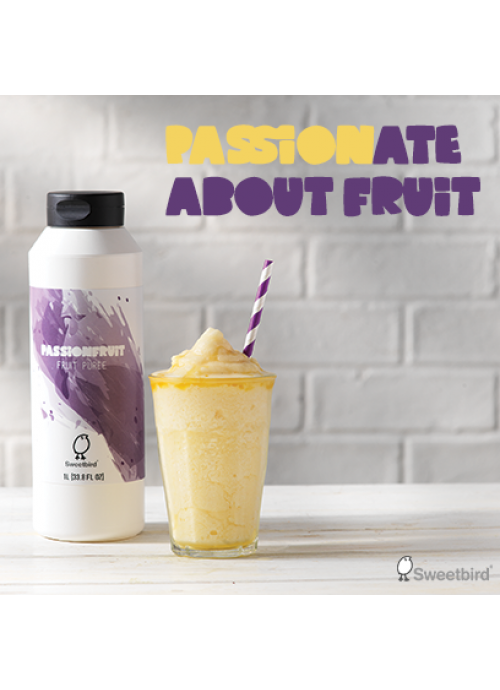 Sweetbird Passion Fruit Puree (1litre Bottle)