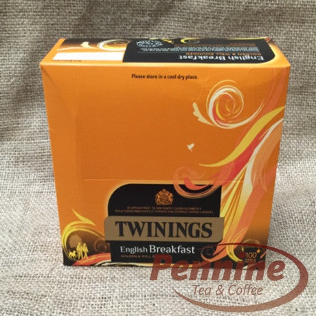 Twinings English Breakfast String and Tag Tea Bags (100x2g)