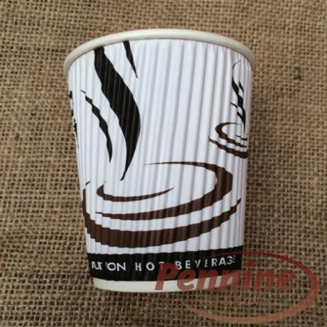 Weave ribbed 8oz Take Out Disposable Cups (500)