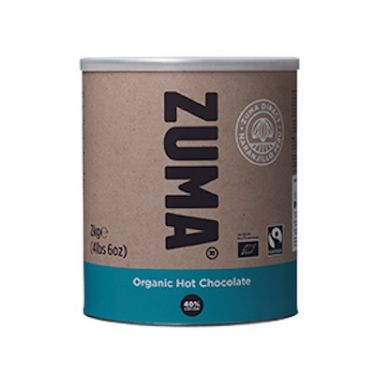 Zuma Fairtrade Organic Vegan Hot Chocolate Powder Mix (4 x 2kg tubs)