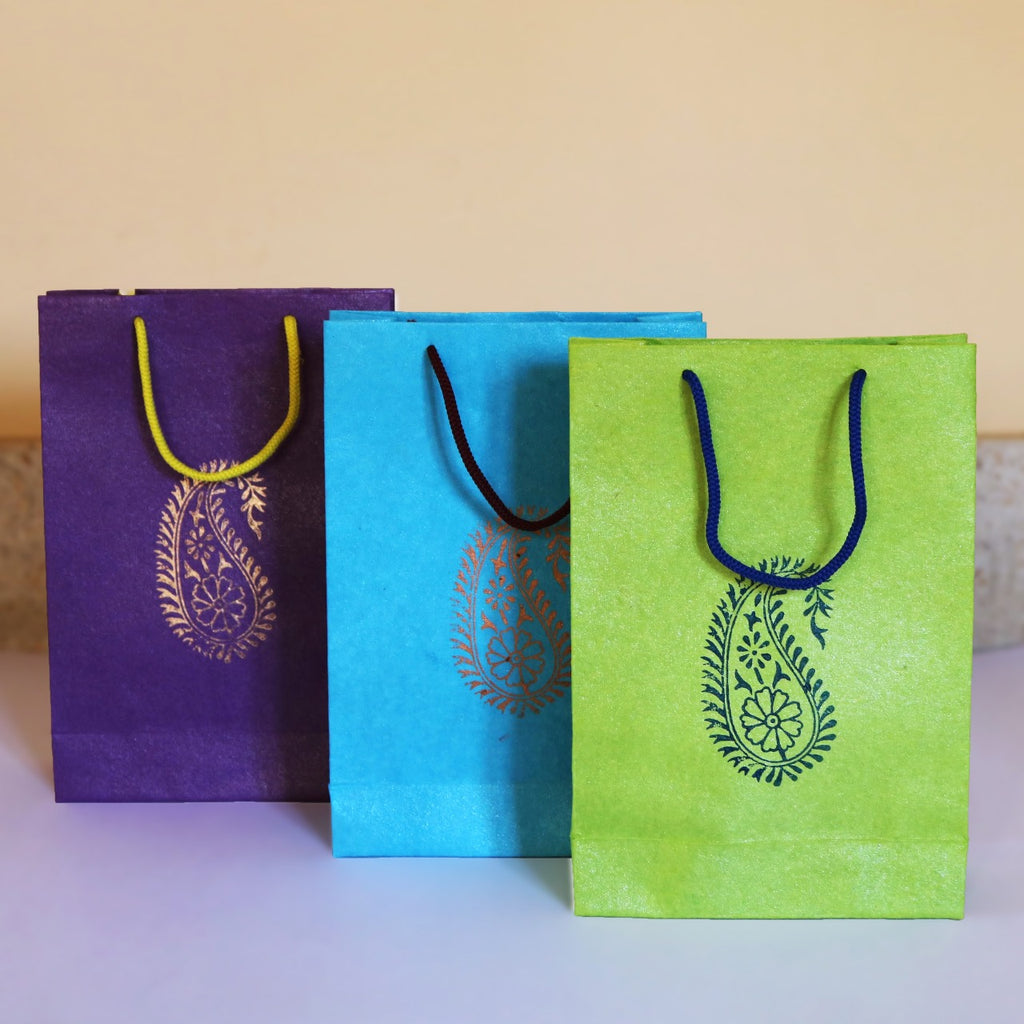 Handmade Paper Bag Lace Printed Pack Of 100 The Ngo Store