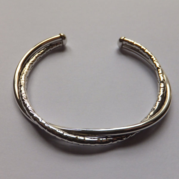 Double Twist Bangle (Hammered)