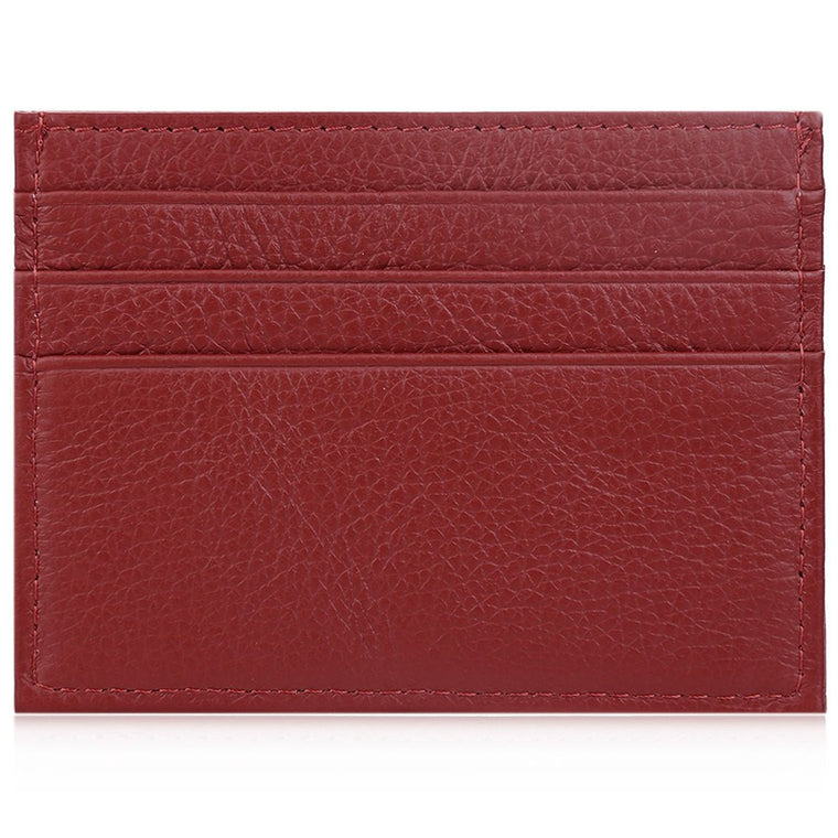 Leather Card Holder Maroon
