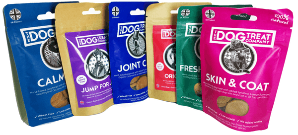 Healthy Dog Treats showing all flavours
