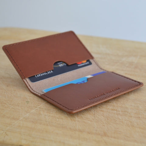 Milo veg tan leather card holder
