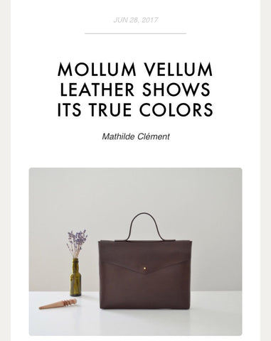 Our leatherwork featured on Made In Town