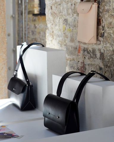 Handcrafted leather crossbody bags by Mollum Vellum