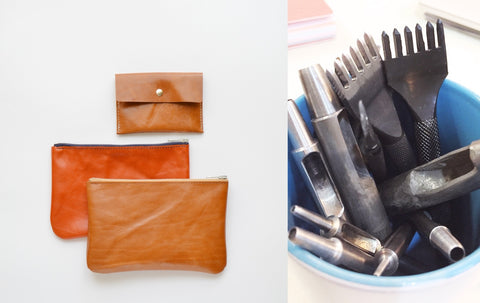 upcycle leather items with a leather artisan in London