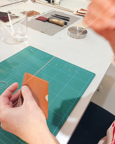 leather craft workshop with Mollum Vellum London