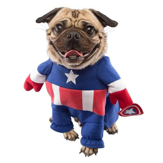 Captain America Dog Costume - Haute Dog Shop