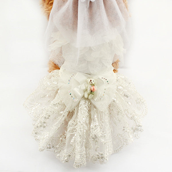 Vera Wedding Dog Dress - Haute Dog Shop