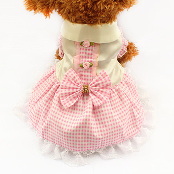 Molly Picnic Dog Dress - Pink - Haute Dog Shop